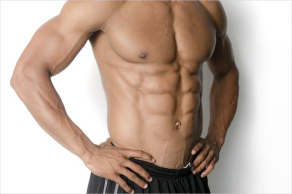 男性の腹筋